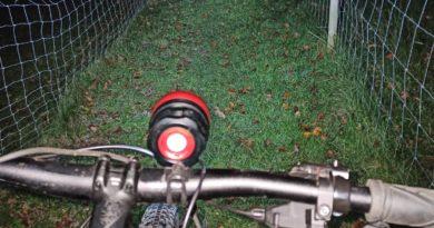 Fahrradfahren in der Nacht
